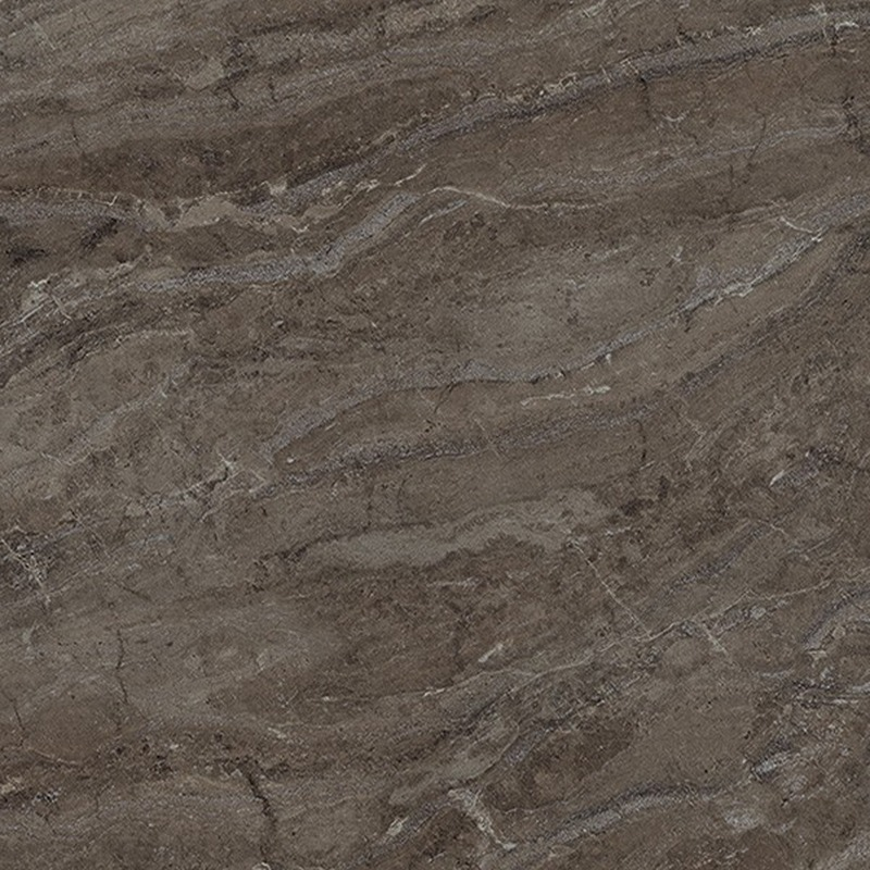 Bronzite is a lovely Brazilian granite design featuring large-scale diagonal veining in marvelous deep chocolate brown with finer veining in soft blue-grey.