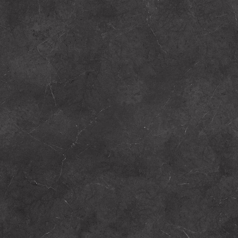 This large scale black marble is accented with fine white and black veining throughout its varying shades of grey to black.