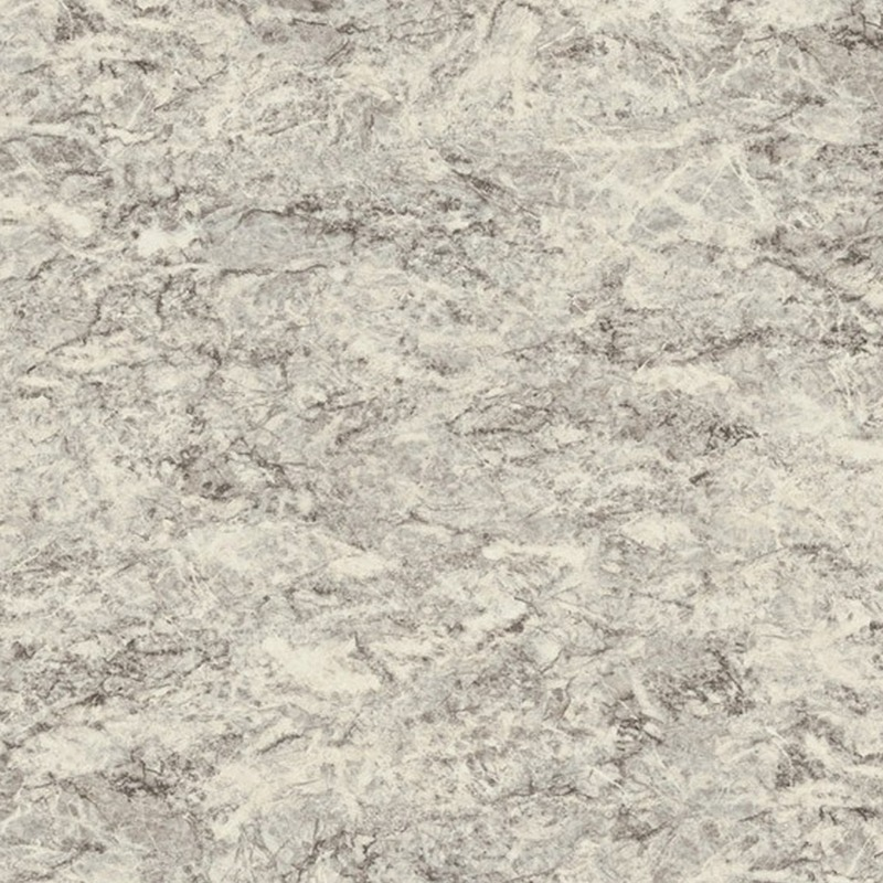 Large scale marble in light grey with deep brown and white veining.