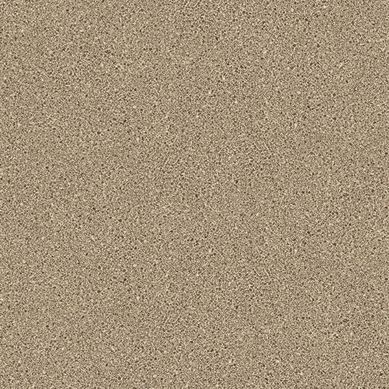 Crunch is a medium scale quartz look with a creamy background highlighted by caramel, tan, and brown particulates.