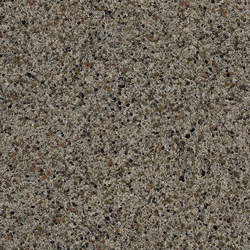 Ink Vesta is a medium-scale quartz look with a creamy background highlighted by grey, brown, and black particulates.