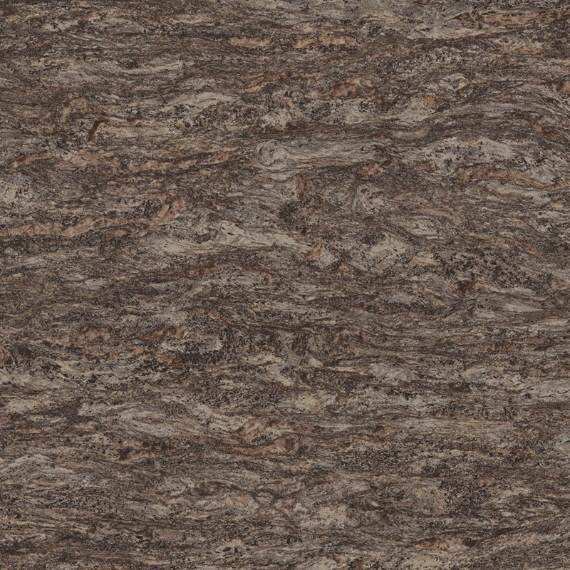 This rich, multi-color granite blends dark greys and browns with black accent in a handsome stone. With elongated flows of quartz and minerals, the overall effect is a changing, moving surface.