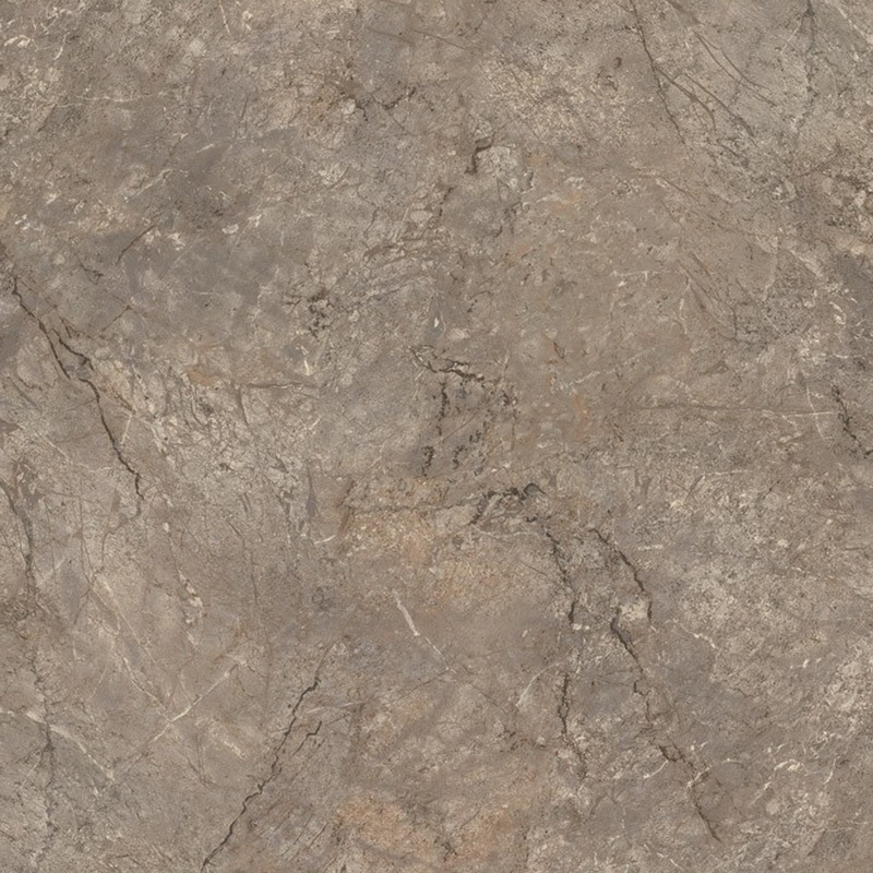 A soft brown marble with dynamic highlights in cream and dark chocolate veining.