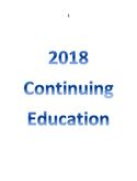 2018 North Dakota State Plumbing Board Continuing Education Session Fee for Master and Journeyman Plumbers